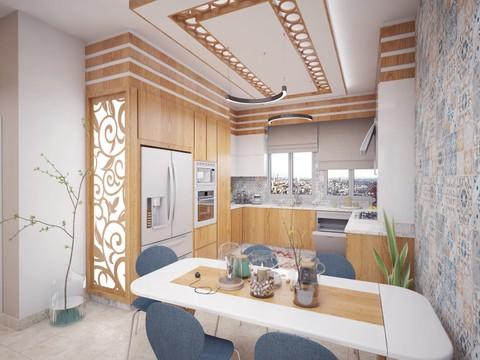 تصميم داخلي وديكور لمطبخ باستخدام 3D Max