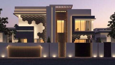 تصميم خارجي لمنزل - تصميم واجهات منزل