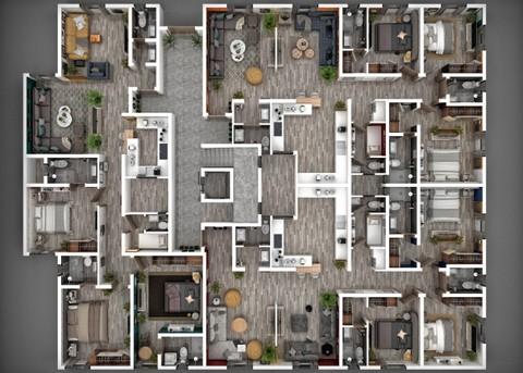 مساقط أفقية ثلاثية الأبعاد 3D Plans