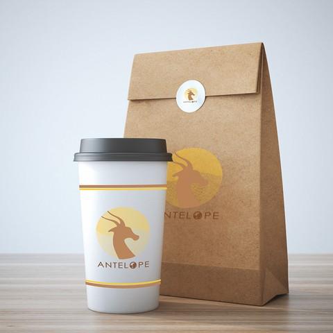 تصميم لوجو لشركة antelope لانتاج القهوة العربية