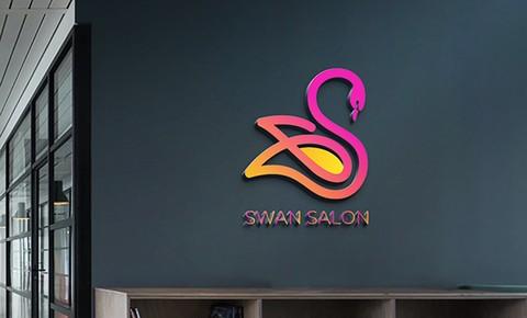 تصميم لوجو لصالح صالون سوان ( SWAN SALON )