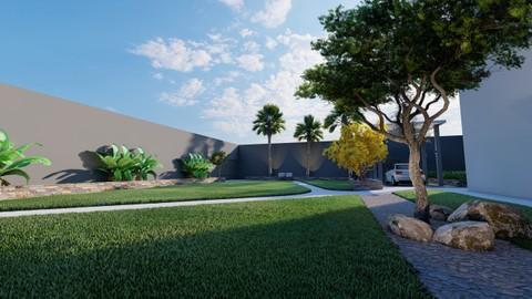 تصميم حديقة منزل.السعودية
