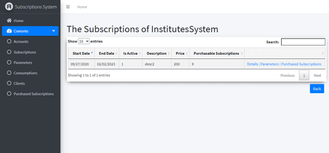 subscriptions Management System Of SaaS Services