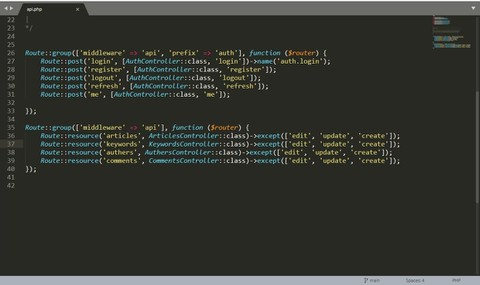 Simple RESTful API Project with laravel with Authentication