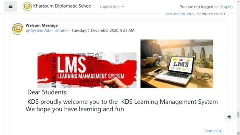منصة تعليم عن بعد (مدرسة الخرطوم الدبلوماسية)
