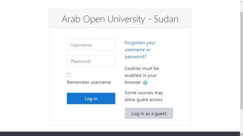 منصة تعليم عن بعد (جامعة العربية المفتوحة - فرع السودان)