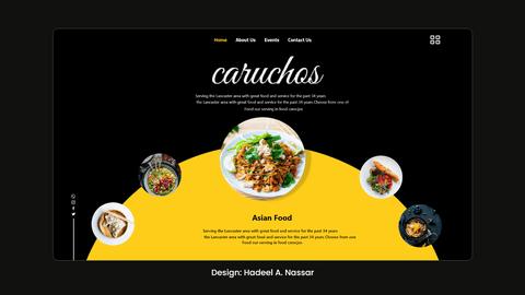 Re-design لواجهة صفحة هبوط باستخدام برنامج Adobe Xd