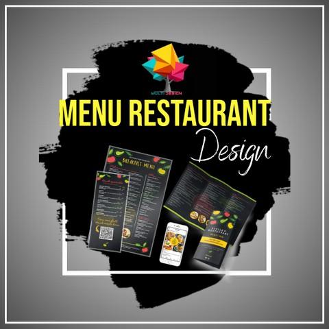 تصميم قائمة المطعم