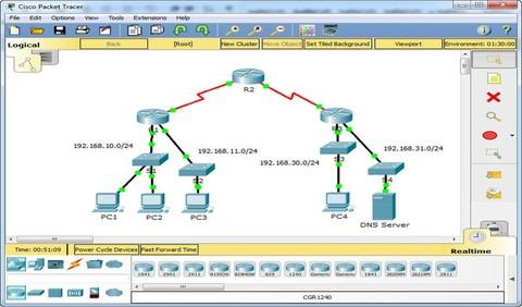 تصميم الشبكات باستخدام Cisco Packet Tracer