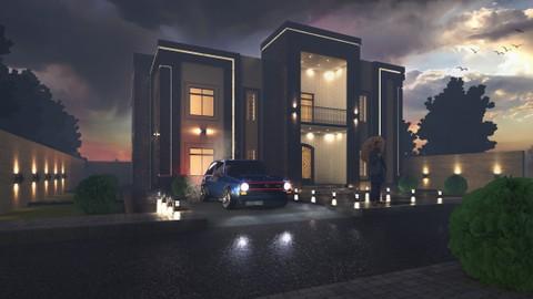 تصميم فيلا سكنية  -   Residential villa design Render v-ray