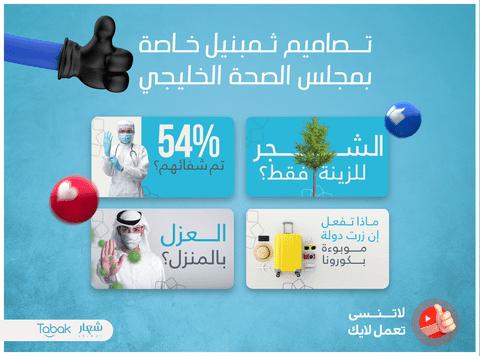 تصاميم ثمبنيل خاصة بمجلس الصحة الخليجي