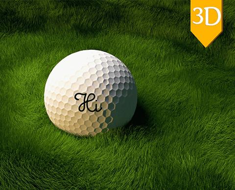 Golf ball render - كرة الجولف