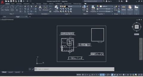 رسم وتصميم المخططات المعمارية على برنامج الاوتوكاد