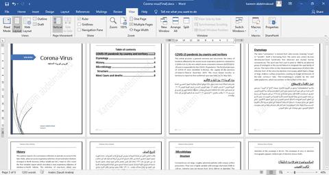 كتابة مقال بأستخدام برنامج Microsoft Word و تنسيقه و ترجمته يدويا من اللغة الانجليزية الى العربية